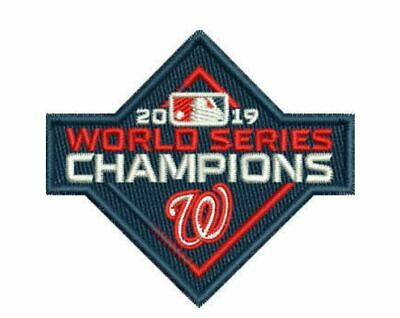 2019 World Series Champions Cap Patch Washington Nationals Baseball Embroidered