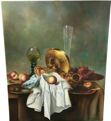 Oil Painting on Canvas, Still Life, Genuine Hand Painted Artwork Superb Detail