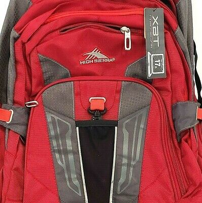 High Sierra XBT Wheeled Carmine Red Rolling Backpack Laptop Backpack  NWT