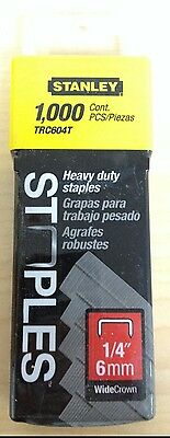 "1//4/"" Length 44014 #5 Heavy Duty Wide Crown Staples"