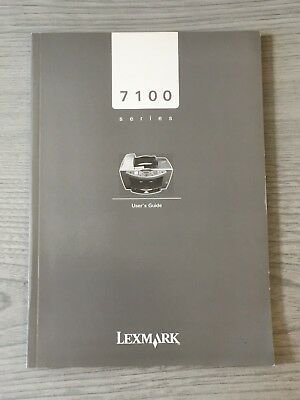 Lexmark Printer 7100 Series Instruction Manual Book User Guide Help Guidance