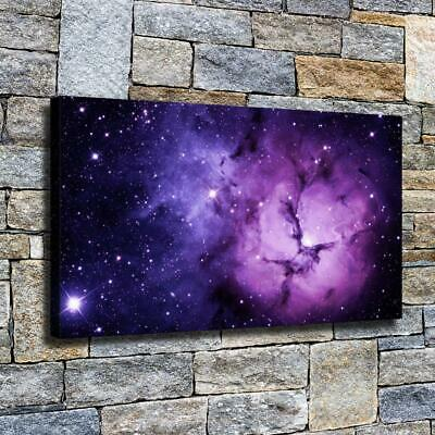 """12""""x22""""Purple star cluster HD canvas photo home decor wall art paintings picture"""