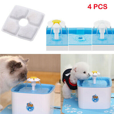 Pet Water Fountain For Cat Automatic Water Drinking Bowl Dish Dispenser Filter