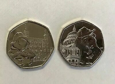 2019 Paddington Bear - 50 p * 2 coin set - St. Paul's Cathedral & London Tower *