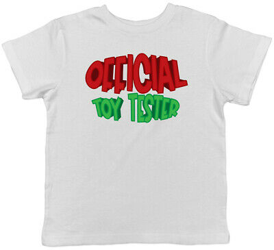 Official Toy Tester Christmas Boys Girls Kids Childrens T-Shirt