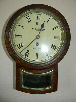 Drop dial fusee wall clock with 8 inch dial