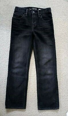 Gap Kids 1969 Boys Black Washed Denim Original Cut Jeans Age 12 years VGC