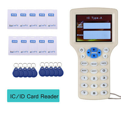 Handheld IC/ID Card Reader Writer Programmer Encrypted Support 375KHz Frequency