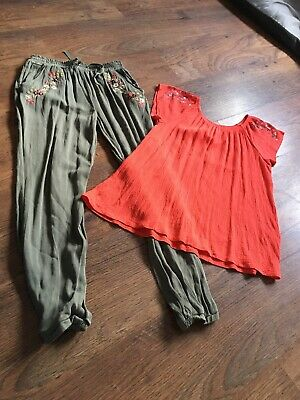 Girls Trousers/top Age 11-12