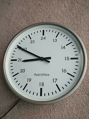 GPO TELEPHONE EXCHANGE POST OFFICE WALL CLOCK 240v Mains,  +++NOT SLAVE+++