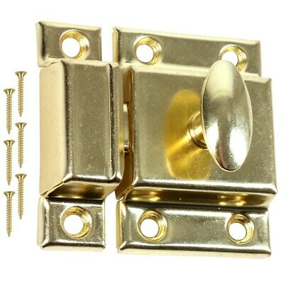 50mm BRASS DOOR LOCK Thumb Turn Twist Cabinet Cupboard Furniture Latch Catch UK