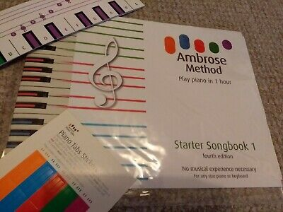 Beginners Piano Book, Learn to Play Piano Keyboard in 1 hour, Starter Songbook 1