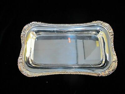 """NEIMAN MARCUS Silverplated Shell & Gadroon 12"""" Serving Dish Tray"""
