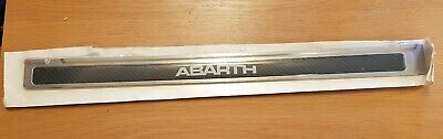 Abarth Genuine Kick Plates Kit Black Carbon Fibre
