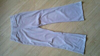 CQ girl's pale grey cotton blend velour trousers slightly flared age 11 years