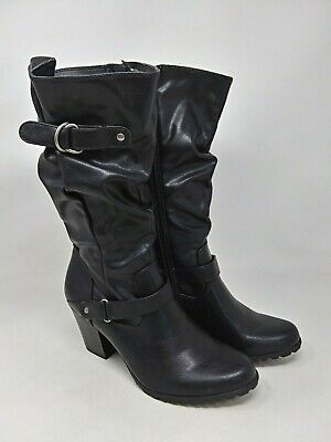 New Womens Apt 9 Blanche Slouch Mid Calf Boots Style 66312 Black 118F