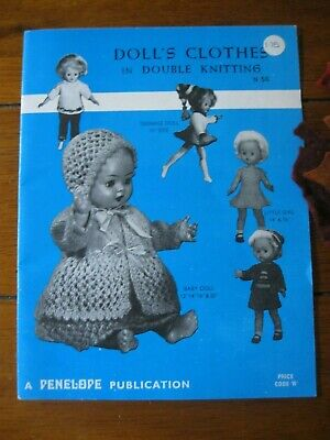 """Mint Condition.Vintage Knitted Dolls Clothes,12""""14""""16""""&20"""" Sizes.Really Lovely!"""