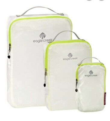 NEW! Eagle Creek PACK-IT Specter Cube Set—3-Pc (XS/S/M) Travel Gear—WHITE (NWT)