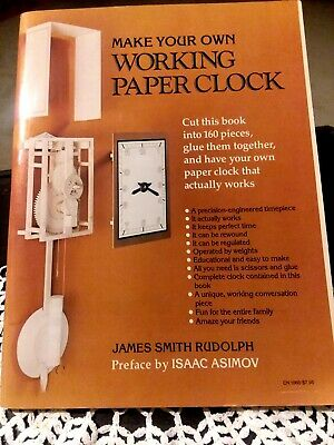 Make Your Own Working Paper Clock by Rudolph, James Smith ISBN 0060910666