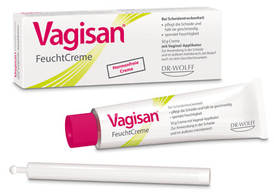 Vagisan Moisturizing Cream Lactic Acid 25gr Vaginal Dryness ,Norm PH,NoHormones