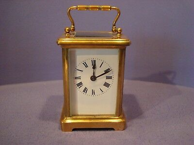 Brass Carriage Clock With Key