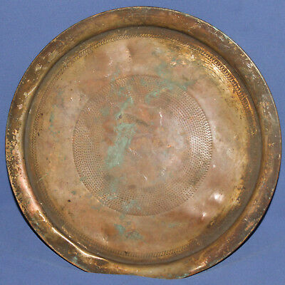 Antique Islamic Hand Made Copper Serving Tray