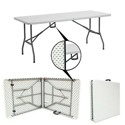6FT 1.8 Meter Heavy Duty Folding Table Trestle Catering Camping Picnic Party BBQ