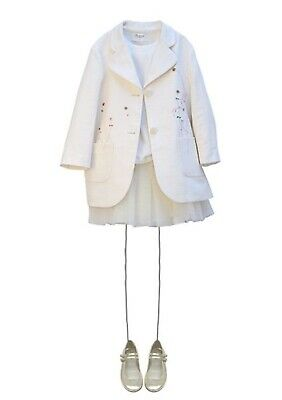 Bonpoint Couture linen Embroidered Jacket Age 6 BRAND NEW WT retail price £290