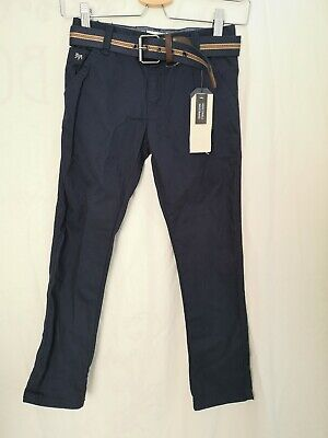 Jasper J Conran Boy Navy Slim Fit Trouser Age 7 Years Old  New belted  C11