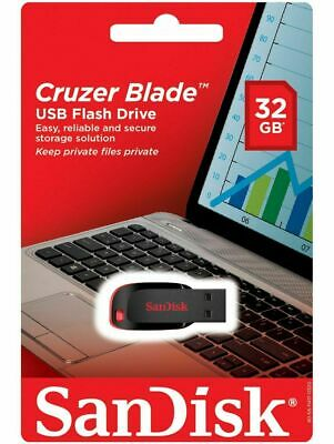 SanDisk 32GB  Memory Stick USB Flash Pen Drive Cruzer Blade Glide Black 2.0 New