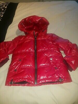 Brand New with out tags girls padded pink hooded Coat From Next Size 7 Yrs