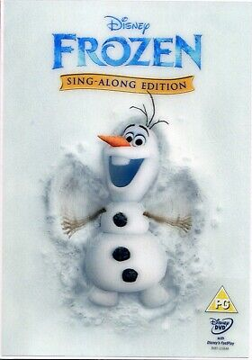 Walt Disney Frozen  Sing - Along Edition new sealed DVD with Lenticular cover