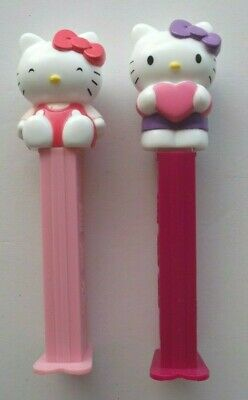 HELLO KITTY PEZ DISPENSERS 2x COLLECTABLE