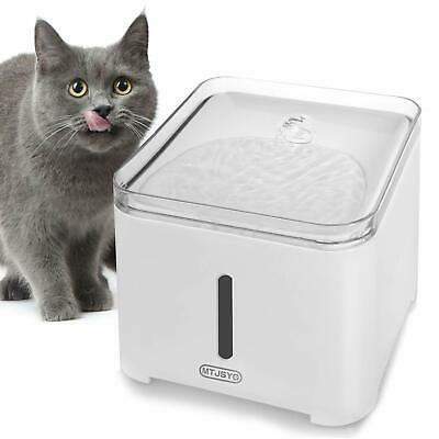 MTJSYG Cat Water Fountain, Automatic Pet Water Dispenser, 2.0L Quiet £5.00 OFF !
