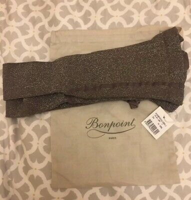 Bonpoint Girls Tights Grey Glittery Size 24 Brand new with dust bag