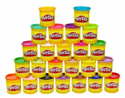 PLAY-DOH Tubs, Pack of 24 Rainbow Assortment Colours (24 x 84g) - NEW