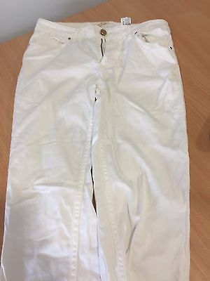 ladies white Zara Jeans size 34 (UK 6) - worn once