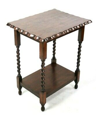 Antique Oak Barley Twist Occasional Table - FREE Shipping [5650]