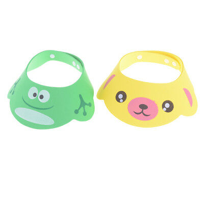 1PC Adjustable Baby Kids Cartoon Shampoo Bathing Shower Cap Hat For Baby Care P0