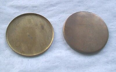 235 pcs. Round- Raw  Brass  Setting Shape - 30mm