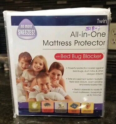 All-In-One Protection with Bed Bug Blocker Zippered Mattress Protector Twin Size