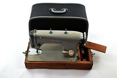 Vintage Old YDK Sapphire Sewing Machine 260A Wooden Base & Foot Pedal