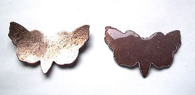 24X Copper Blanks for enameling use-  SMALL BUTTERFLY  shape