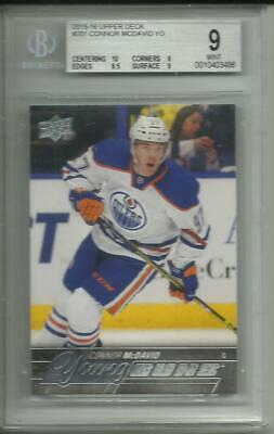 2015-16 Upper Deck Connor Mcdavid Rc Rookie Yg Young Guns #201 Graded Bgs 9 Mint