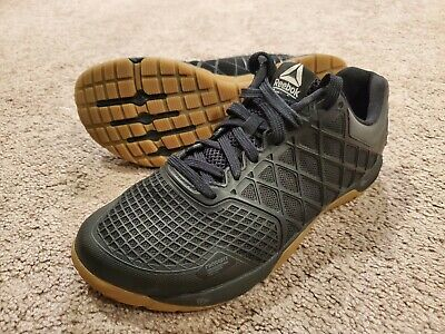 Reebok Crossfit Shoes Nano 4.0 Men's Black Gum Sz 7.5 Mens Sneakers
