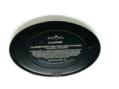 BLACK OPAL Oil Absorbing Pressed Powder Compact Almond NEW