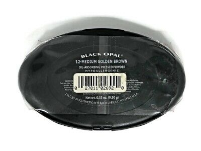 BLACK OPAL Oil Absorbing Pressed Powder Compact Medium Golden Brown NEW
