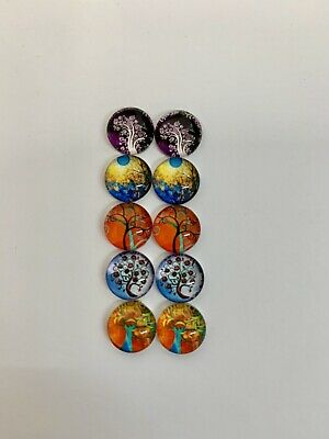 5 Pairs Of 10mm Glass Cabochons #546