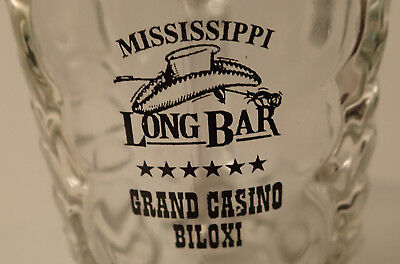 Vintage Mississippi Long Bar Grand Casino Biloxi Cowboy Boot Beer Glass Mug