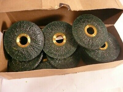 "New 12 Pcs Genuine Osborn 11651 3"" Green Ty Ringlock Encapsulated Wire Wheels"